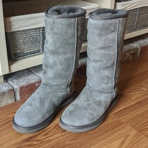 Tall Classic Grey UGG Boots
